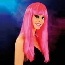 Cabaret Wig Bright Pink Long
