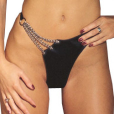 Leather And Chain Brief