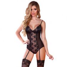 Corsetti Ayse Black Lace Bodysuit